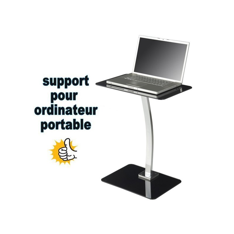 Support PC MAC en verre trempé