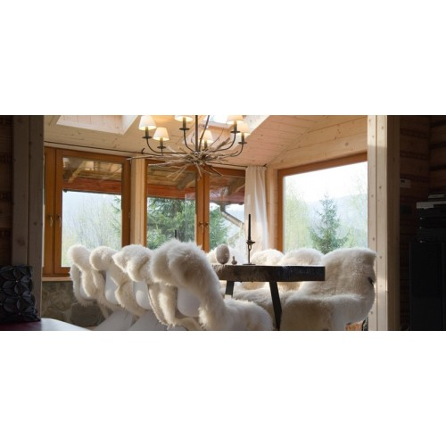 Couvre-siège peau de mouton
