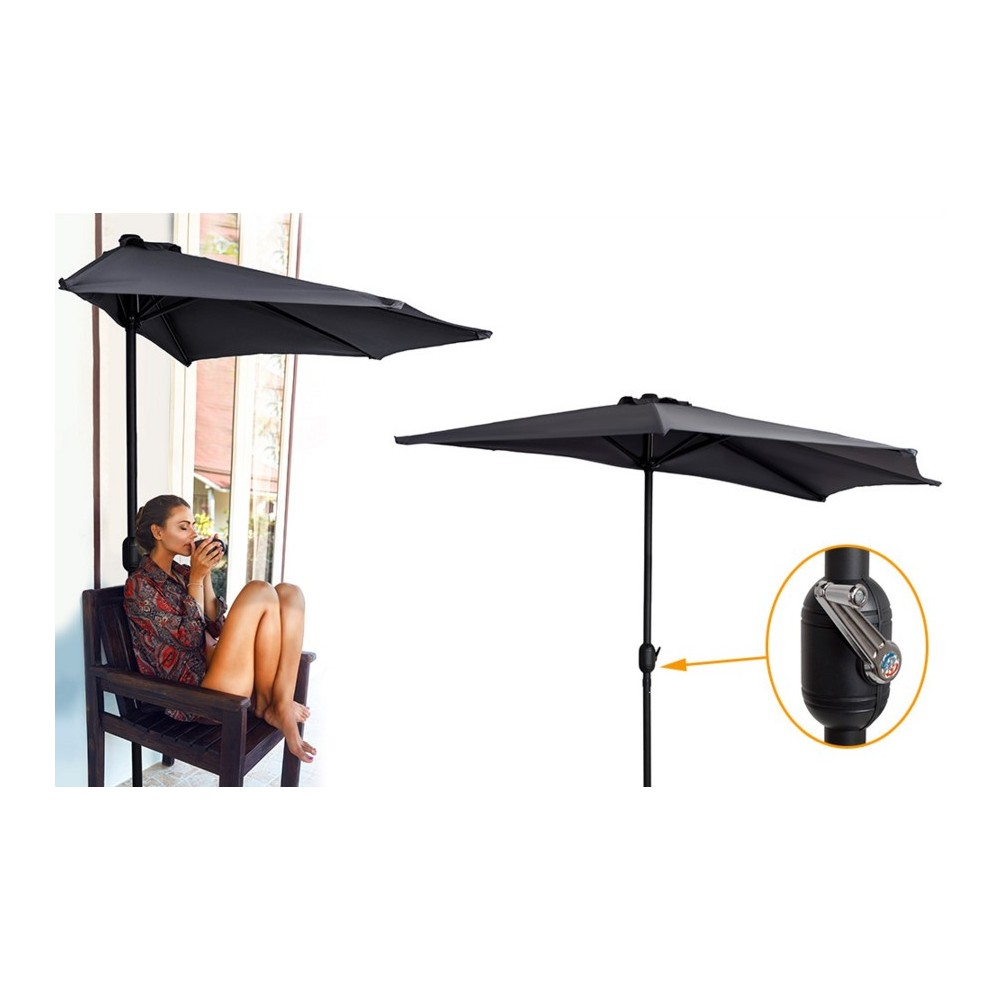 demi parasol de la marque gardenkraft. Black Bedroom Furniture Sets. Home Design Ideas