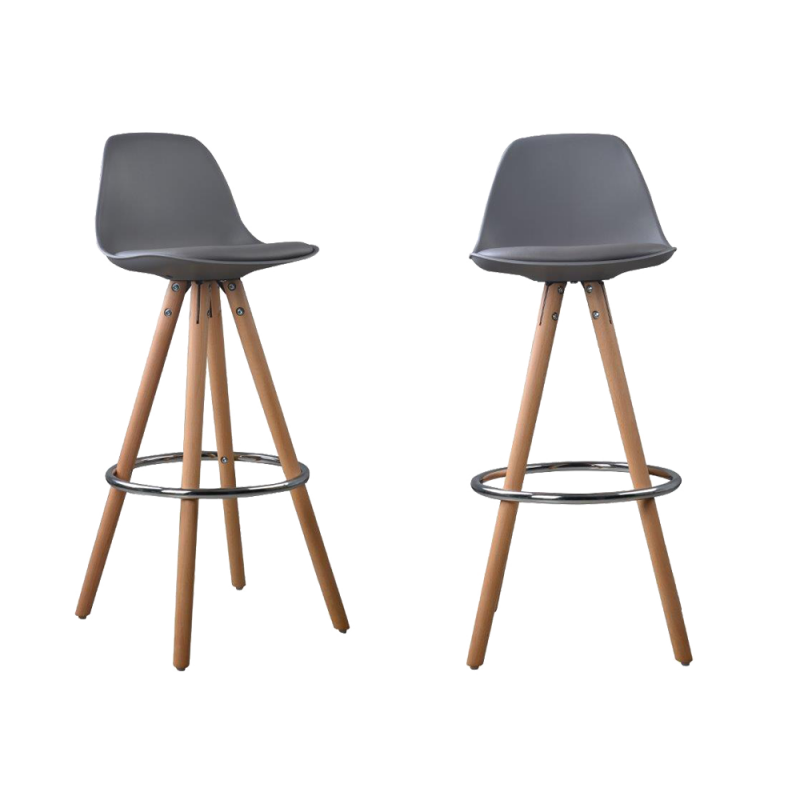 Lot de 2 tabourets de bar design scandinave nordique - Tabouret bar transparent fly ...