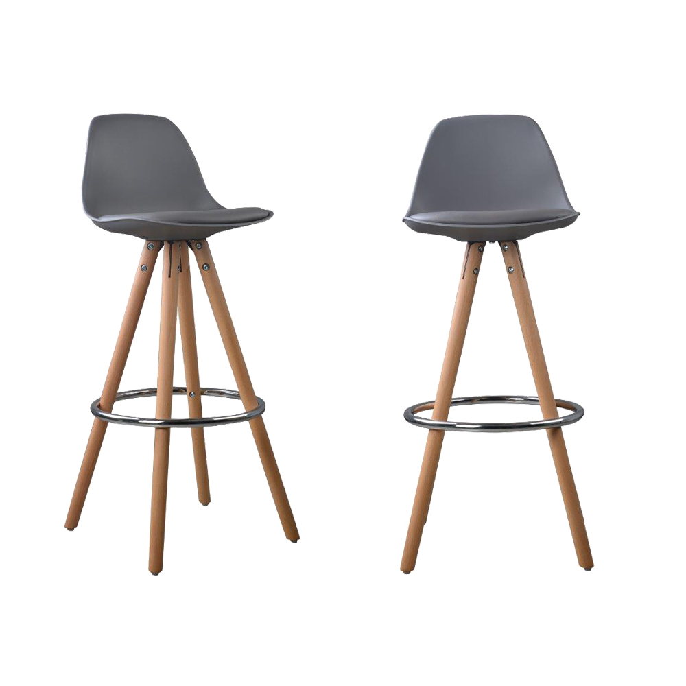 lot de 2 tabourets de bar design scandinave nordique. Black Bedroom Furniture Sets. Home Design Ideas