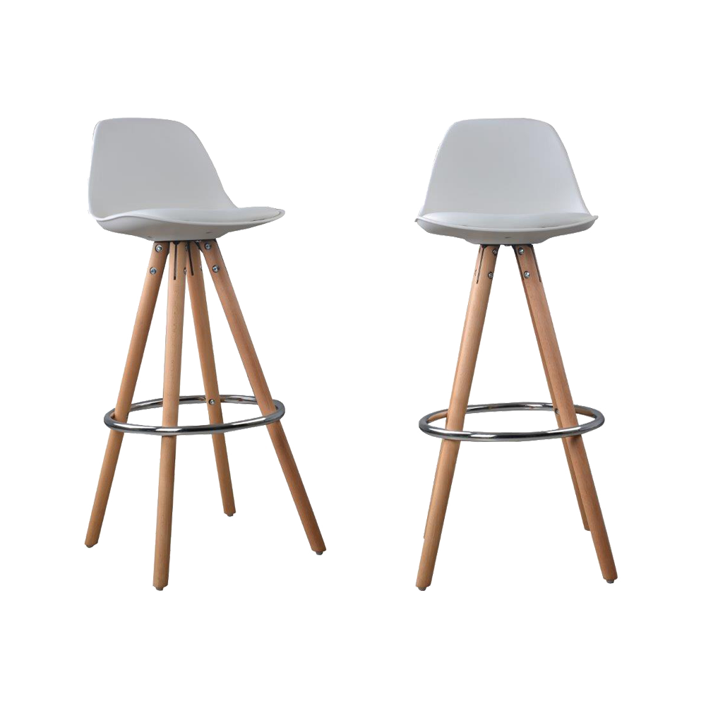 Lot de 2 tabourets de bar design scandinave nordique for Siege de tabouret de bar