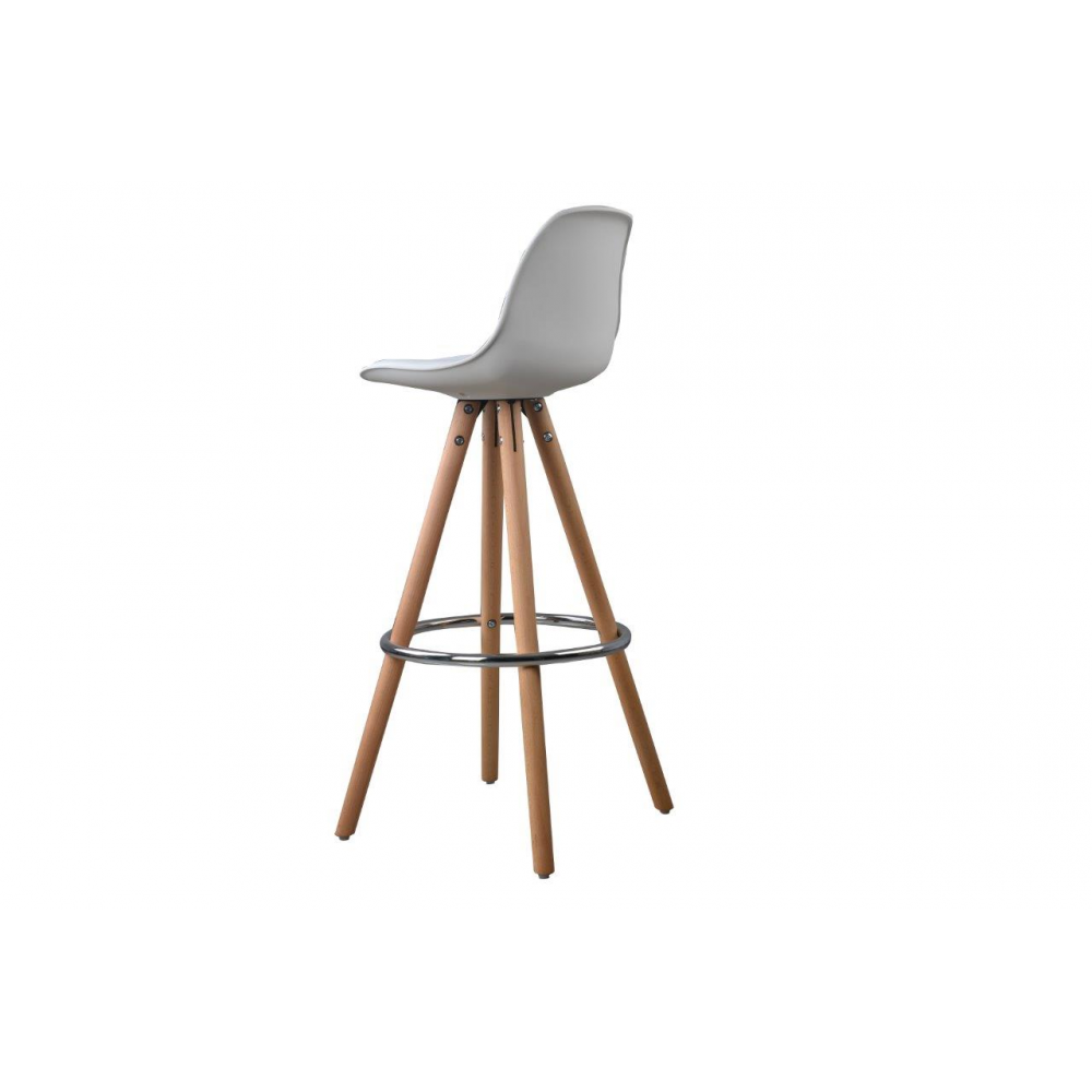 Lot de 2 tabourets de bar design scandinave nordique - Tabouret de bar transparent ...