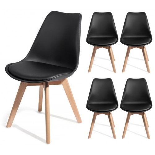 4 chaises BREKKA design style scandinave TOP qualité