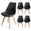 4 chaises BREKKA Noir