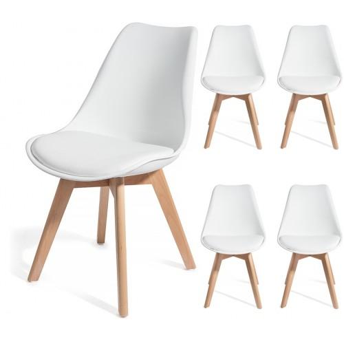4 chaises BREKKA Blanc