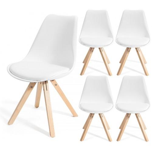 4 chaises FJONE Blanc
