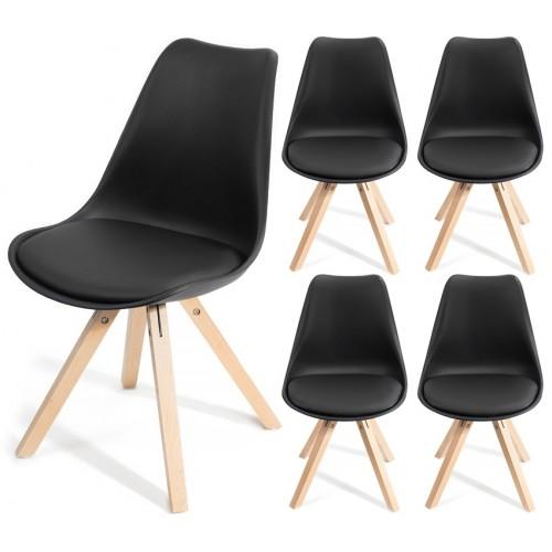 4 chaises FJONE Noir