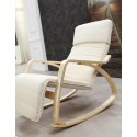 Rocking-chair fauteuil Blanc