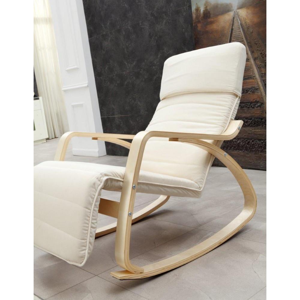 Fauteuil de relaxation rocking chair chair basculant - Fauteuil rocking chair design ...