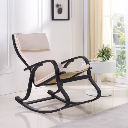 Fauteuil Rocking-chair blanc