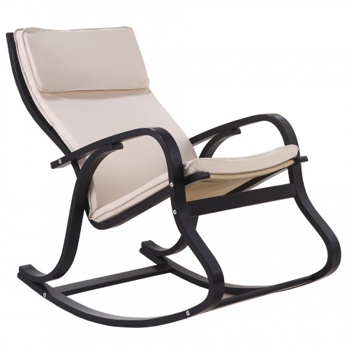 Fauteuil à bascule, Rocking-chair Beige