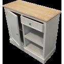 Commode meuble en bois blanc 88 cm