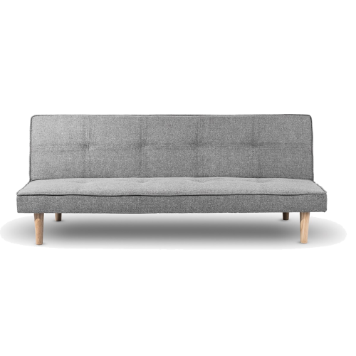 FLOBY Banquette clic clac en tissu gris convertible en lit