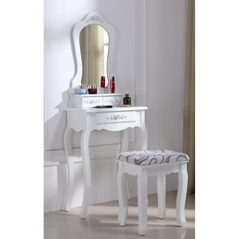 coiffeuse table de maquillage avec miroir. Black Bedroom Furniture Sets. Home Design Ideas