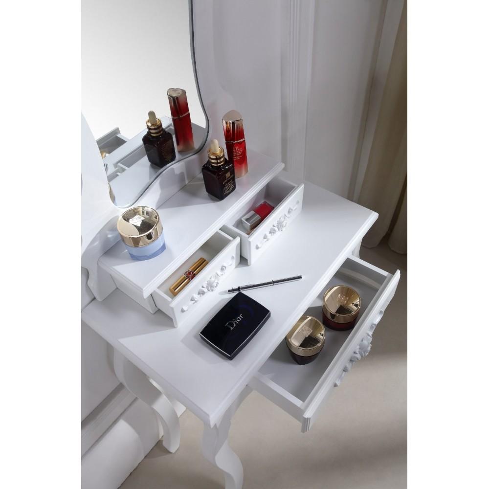 Coiffeuse table de maquillage avec miroir - Coiffeuse table de maquillage ...