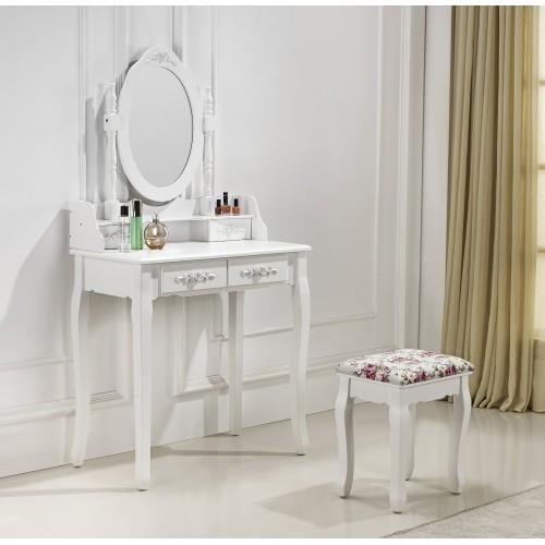 Très belle coiffeuse table de maquillage avec 2 tiroirs