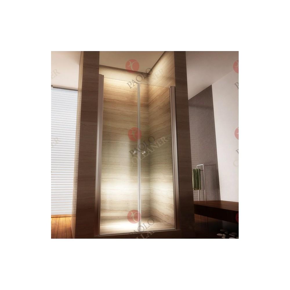 porte de douche r glable en verre de s curit. Black Bedroom Furniture Sets. Home Design Ideas