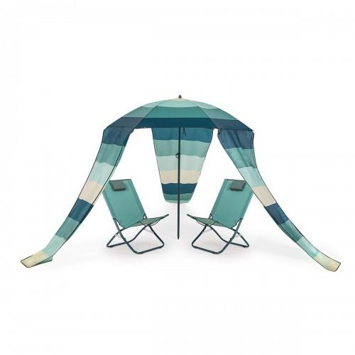 MAUI Extra 2 transats chaises pliables parasol jardin plage