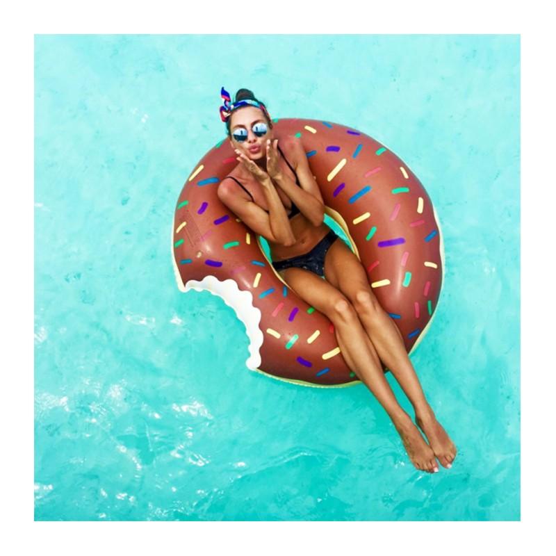Bouée gonflable Donut chocolat