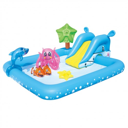 Parc aquatique piscine gonflable aquarium Bestway