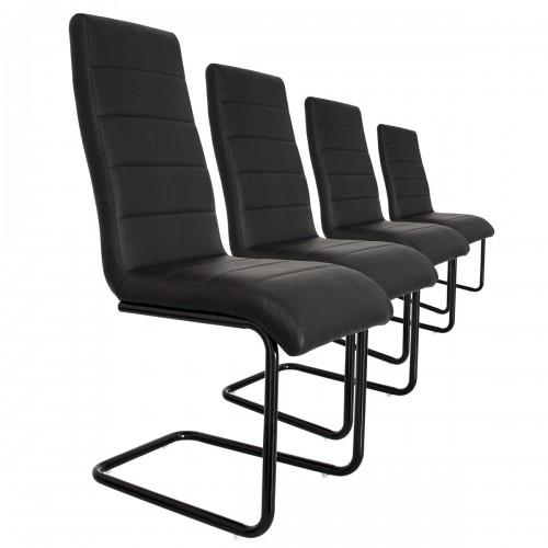 Lot 4 chaises S9 noir