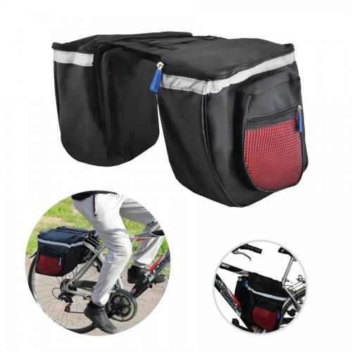 Double sacoche vélo grande capacité sac