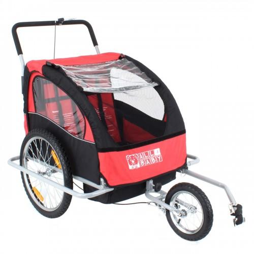 Remorque de vélo pour 1 à 2 enfants convertible jogger