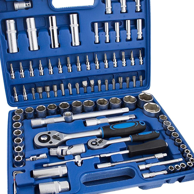 Jeune En promo, coffret kit de 94 outils douilles, Torx, clés à cliquet EZ-31