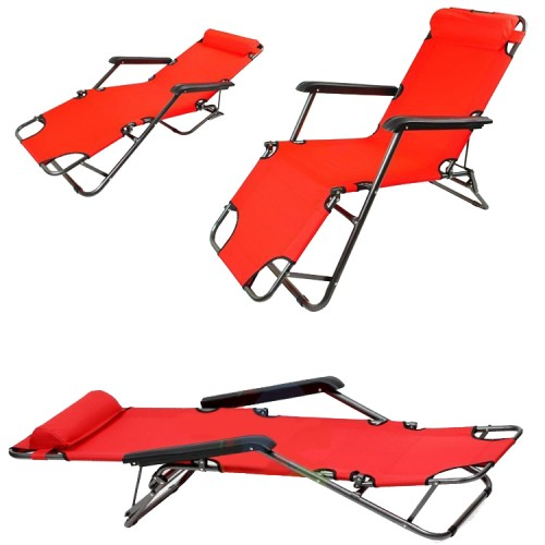 Chaise longue transat 3 positions