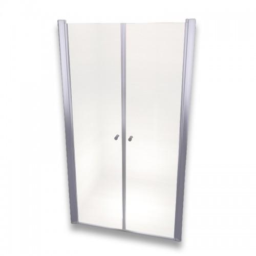 Porte de douche réglable verre transparent