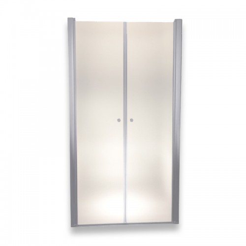 Porte de douche réglable verre dépoli