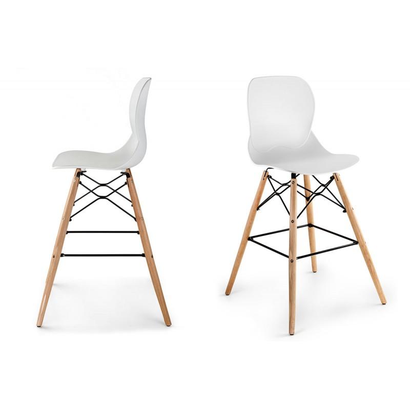 lot de 2 tabourets de bar kemi scandinave nordique. Black Bedroom Furniture Sets. Home Design Ideas