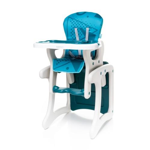 Chaise haute FASHION Bleu