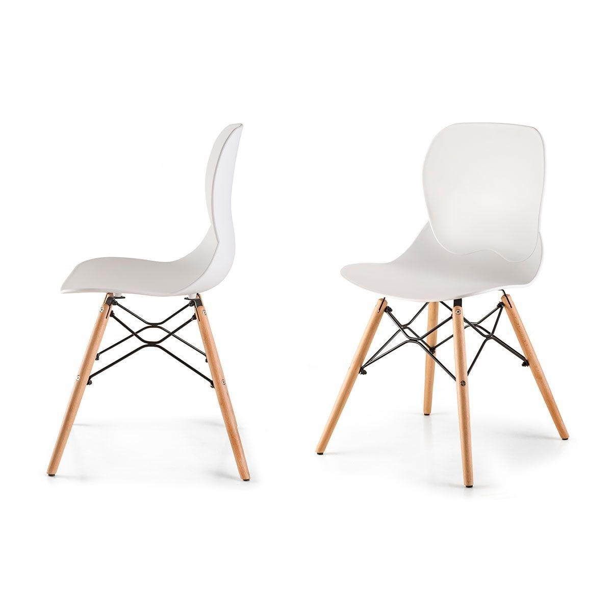 boras lot de 2 chaises style scandinave nordique - Chaise Style Scandinave