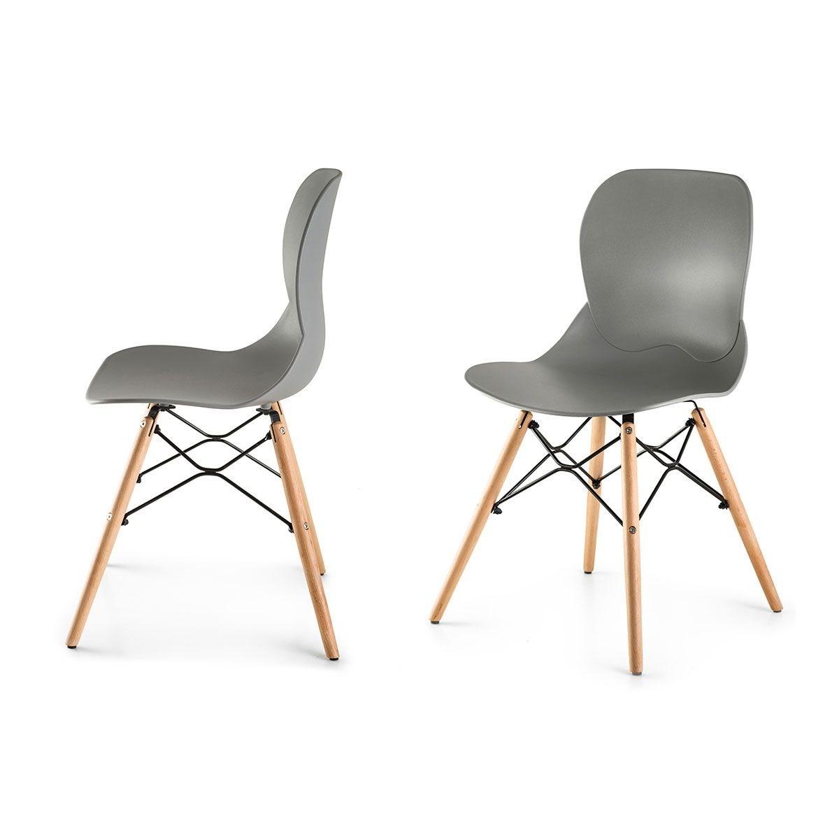 boras lot de 2 chaises style scandinave nordique ebay. Black Bedroom Furniture Sets. Home Design Ideas