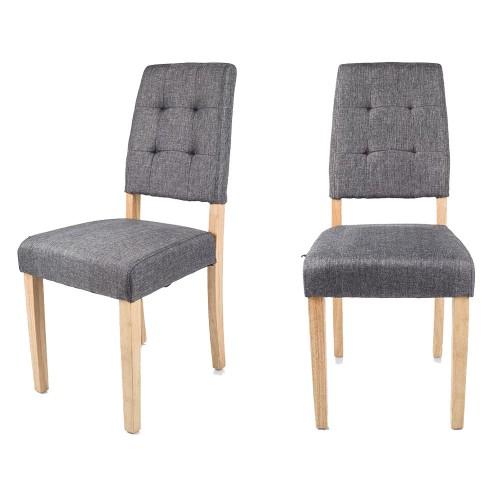 LOKKE - Chaises grises X2