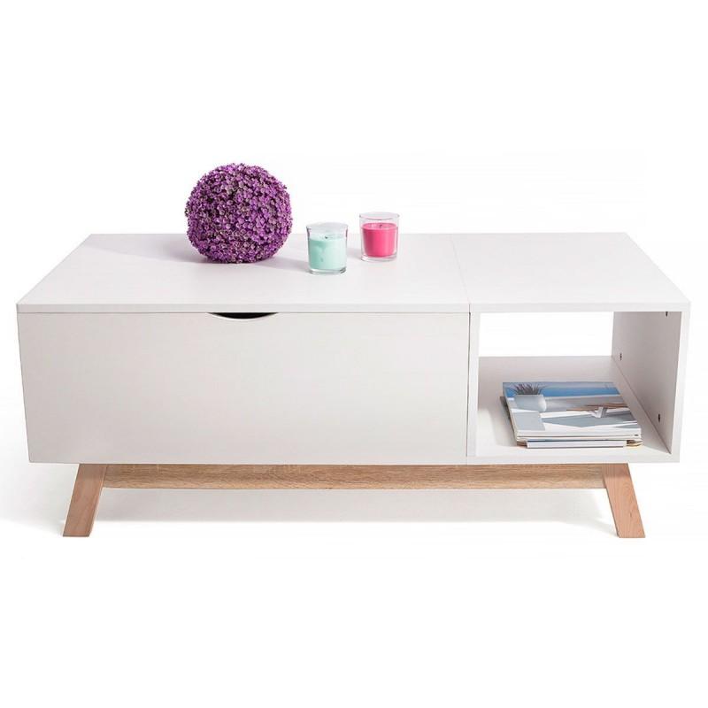 Table Basse Gossa Avec Plateau Evolutif Style Scandinave