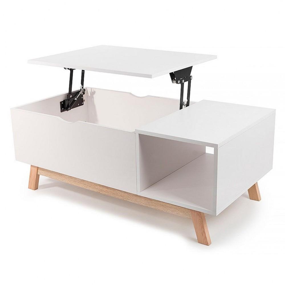 table basse gossa avec plateau volutif style scandinave. Black Bedroom Furniture Sets. Home Design Ideas