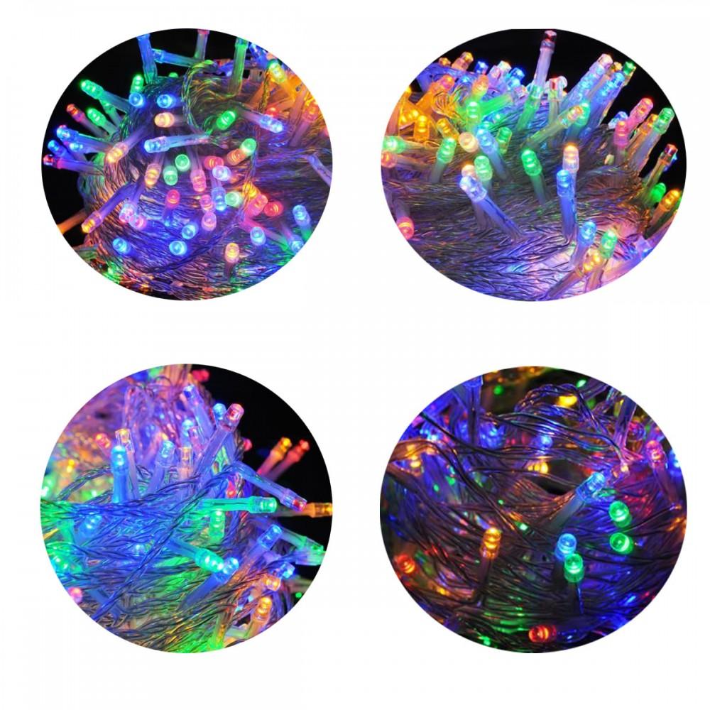 Guirlande de no l multicolore pour int rieur ou ext rieur for Guirlande lumineuse interieur design