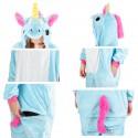 Costume de licorne bleu détails