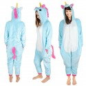 Costume de licorne bleu