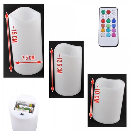 3 Bougies LED dimensions détails