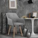 INGE fauteuil gris déco