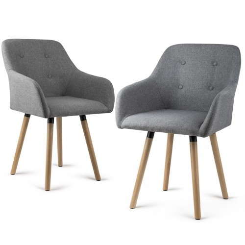 INGE lot de 2 fauteuils de salon ou de bureau