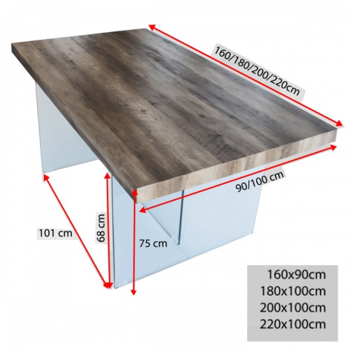 Table à manger dimensions