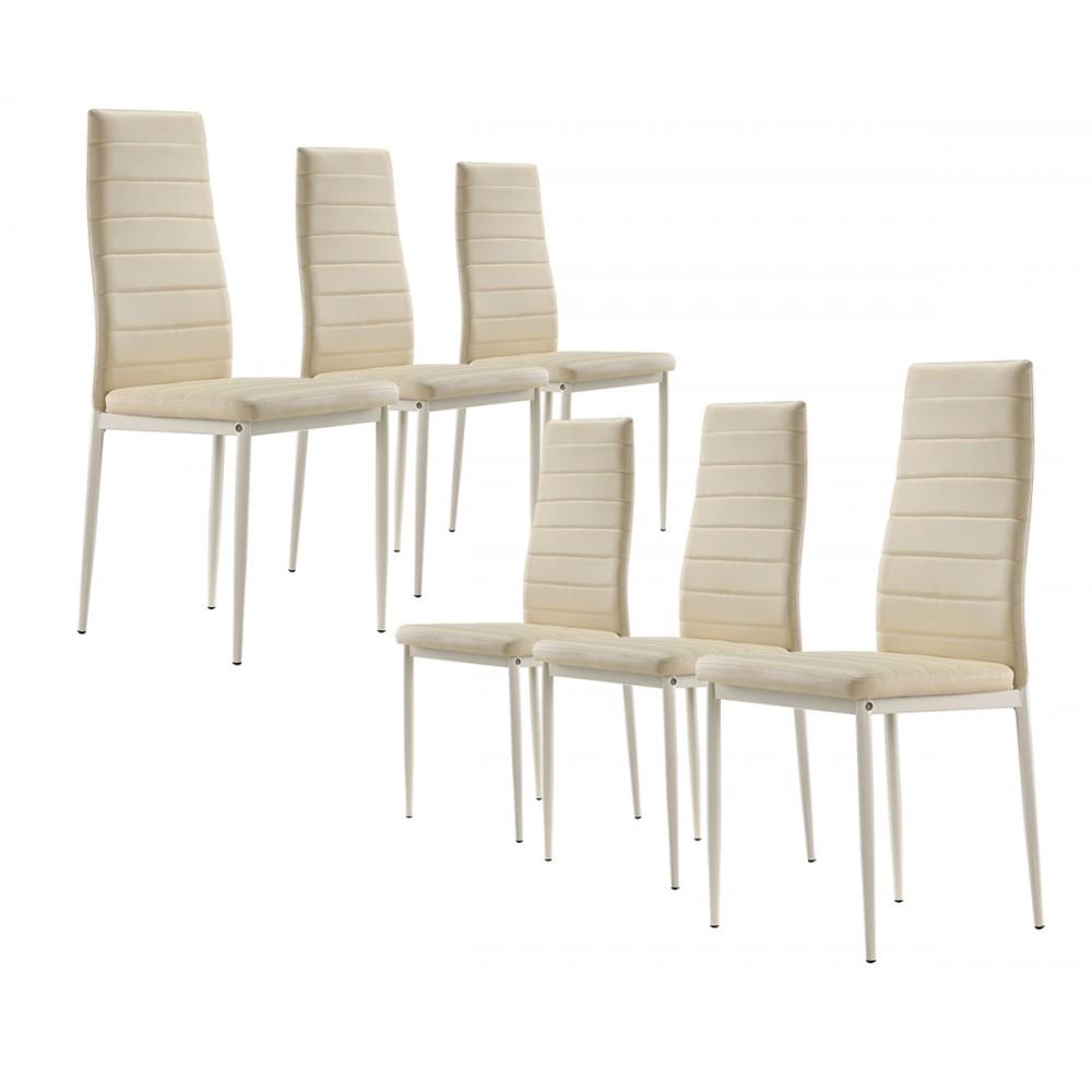 Lot de 4 6 ou 8 chaises design s2 for Lot 4 chaises taupe