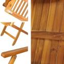 Salon de jardin en bois 1 table 6 chaises