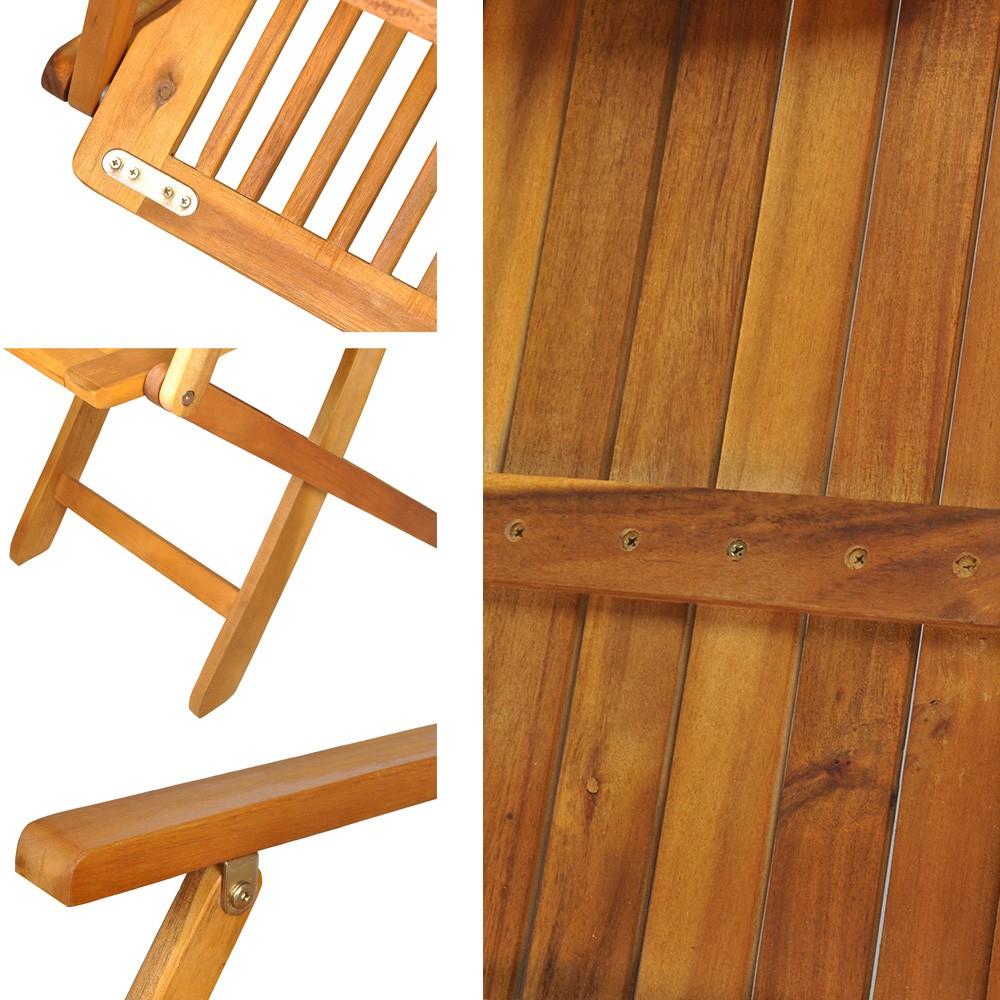 Promo ! Table de jardin en bois naturel huilé + 6 chaises