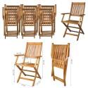 Salon de jardin 1 table 6 chaises